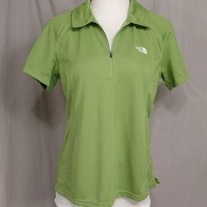 North Face Vapor Wick Green Polo T Women's XL Top